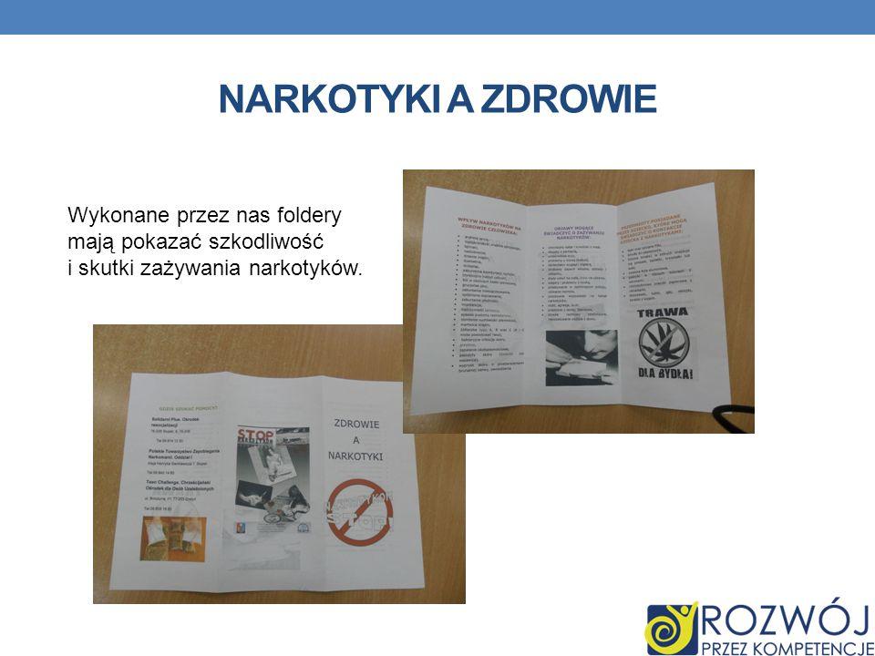 NARKOTYKI A ZDROWIE Wykonane przez nas foldery