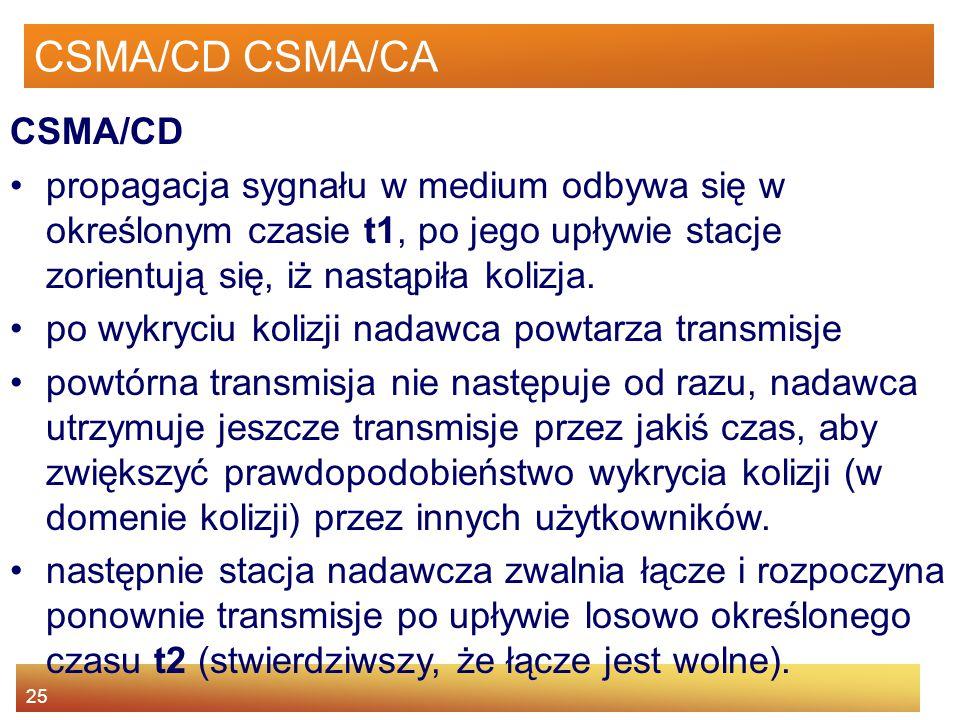 CSMA/CD CSMA/CA CSMA/CD