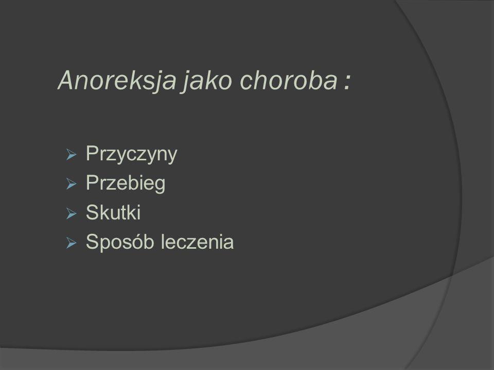 Anoreksja jako choroba :