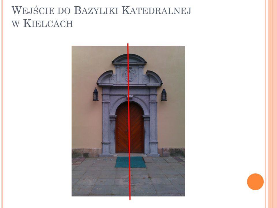 Wejście do Bazyliki Katedralnej w Kielcach