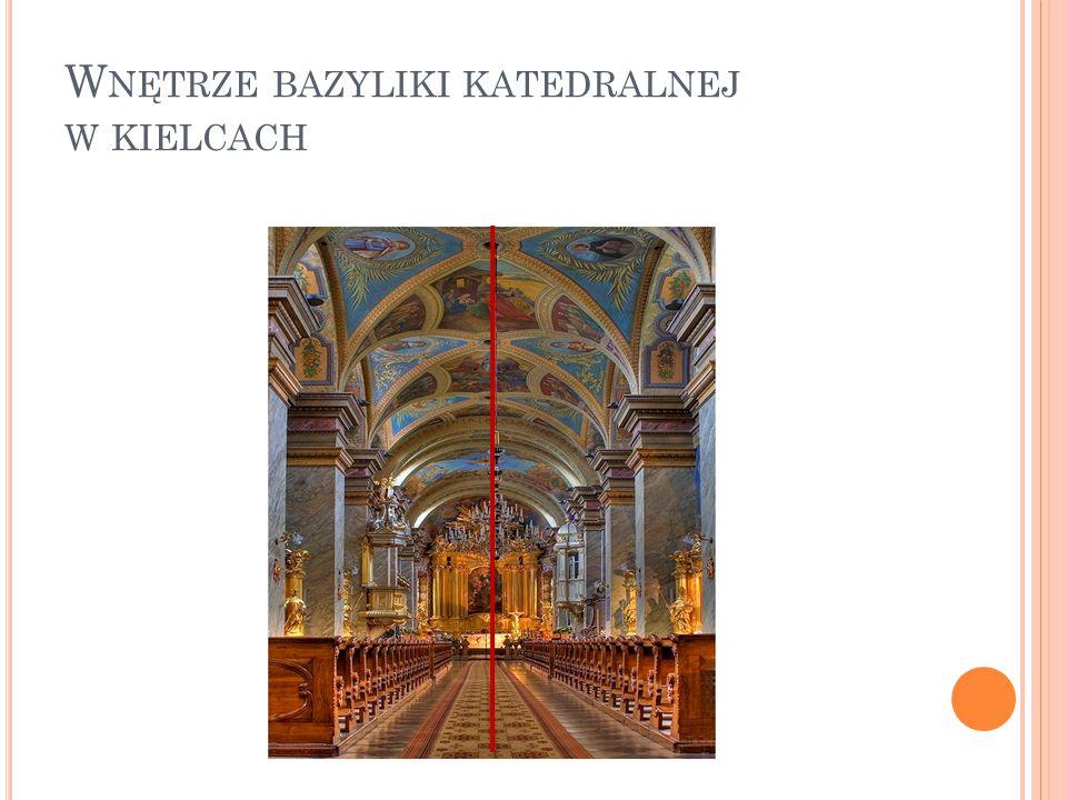 Wnętrze bazyliki katedralnej w kielcach