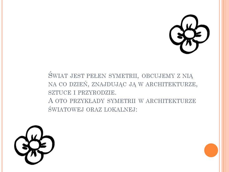 Świat jest pełen symetrii, obcujemy z nią na co dzień, znajdując ją w architekturze, sztuce i przyrodzie.