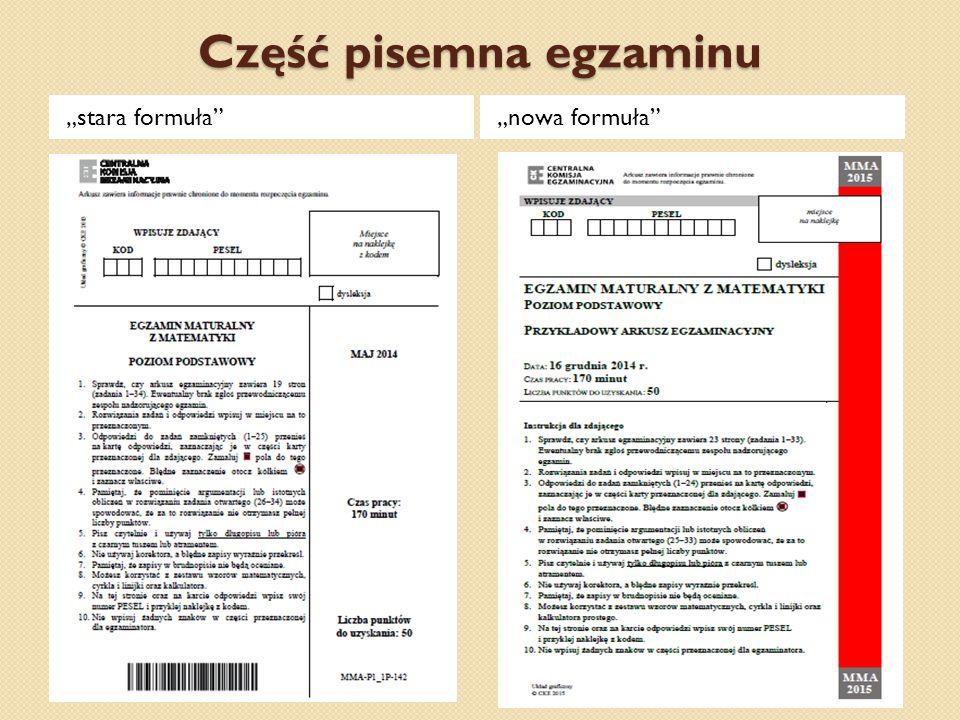 Część pisemna egzaminu