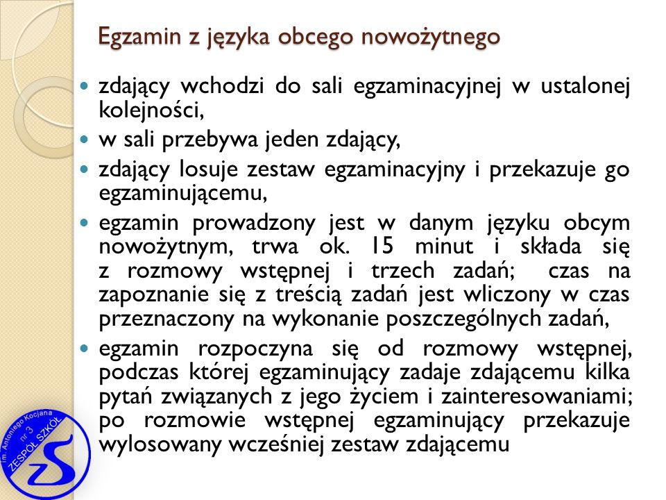 Egzamin z języka obcego nowożytnego