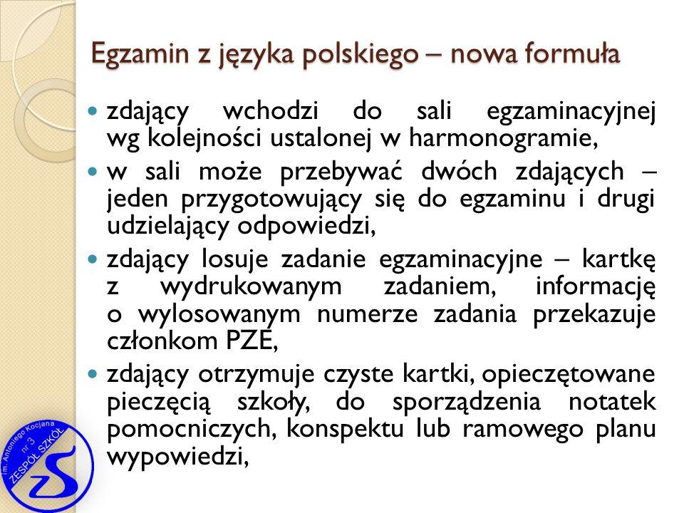 Egzamin z języka polskiego – nowa formuła