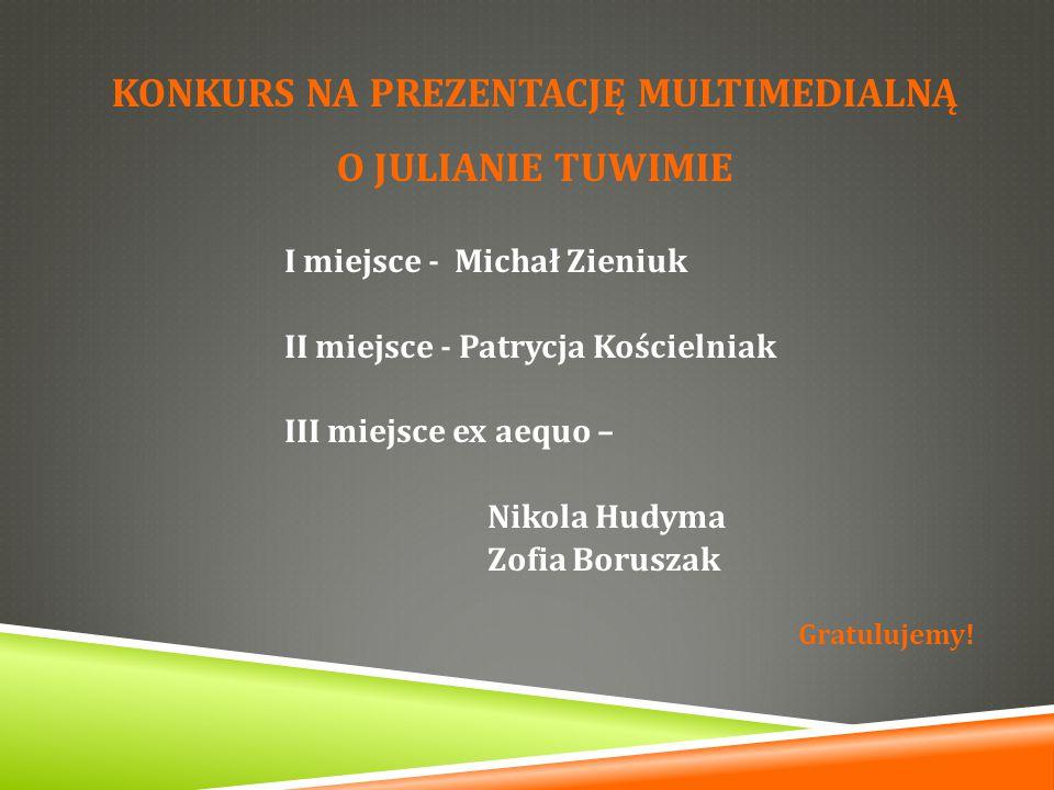 Konkurs na prezentację multimedialną o JULIANIE Tuwimie