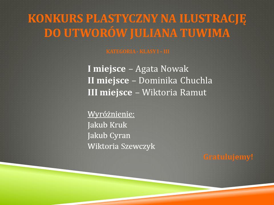 Konkurs plastyczny na ilustrację do UTWORÓW JULIANA TUWIMA