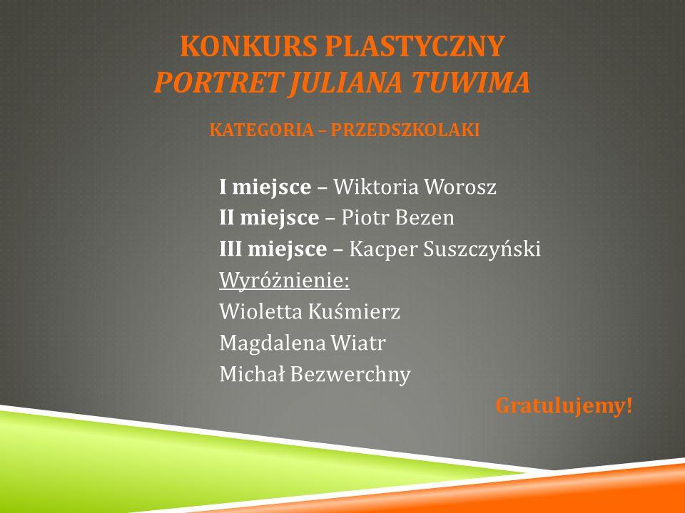 Konkurs plastyczny PORTRET JULIANA TUWIMA