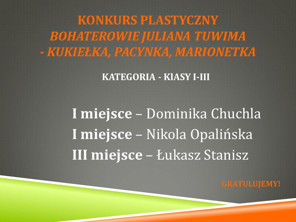 KATEGORIA - KlASY I-III