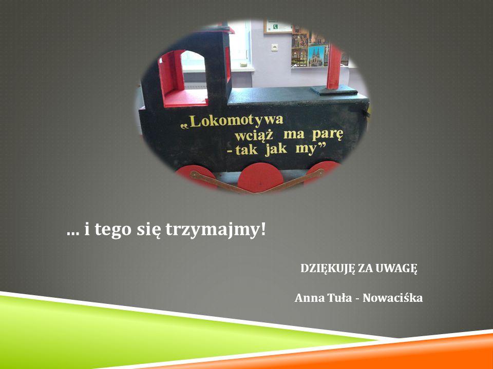 … i tego się trzymajmy! DZIĘKUJĘ ZA UWAGĘ Anna Tuła - Nowaciśka