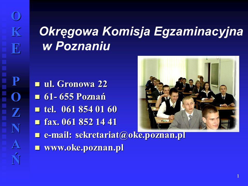 Okręgowa Komisja Egzaminacyjna w Poznaniu