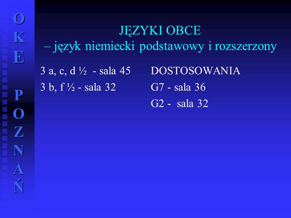 JĘZYKI OBCE – język niemiecki podstawowy i rozszerzony