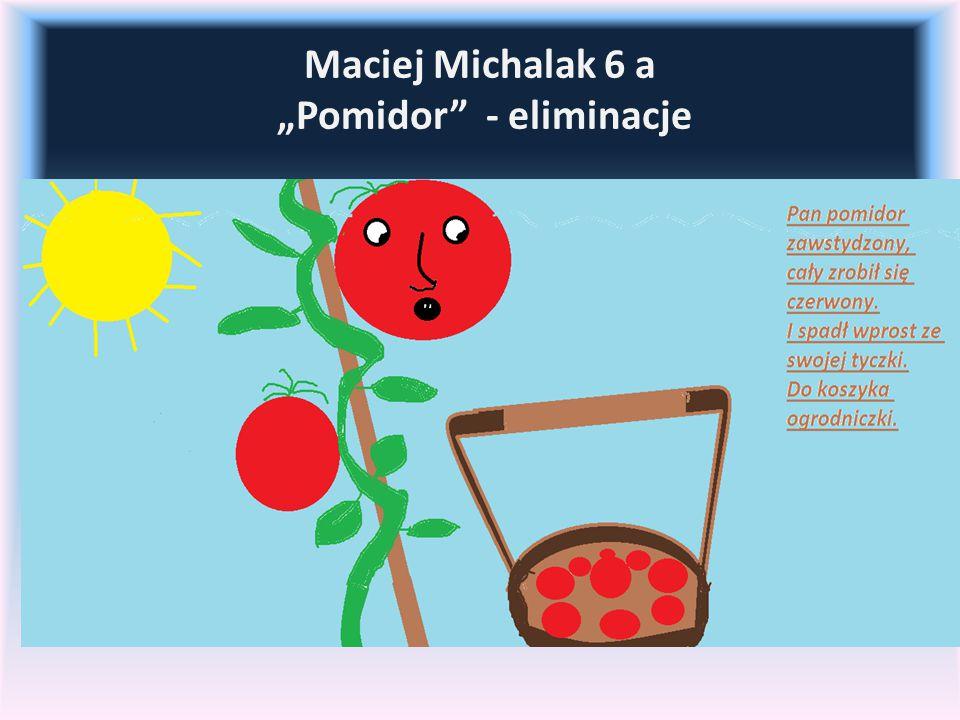 """Maciej Michalak 6 a """"Pomidor - eliminacje"""