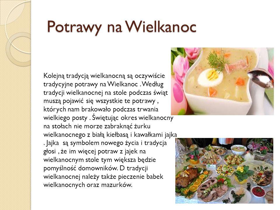 Potrawy na Wielkanoc