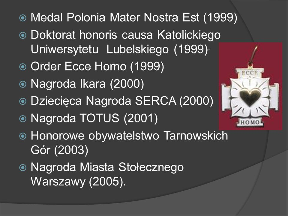 Medal Polonia Mater Nostra Est (1999)