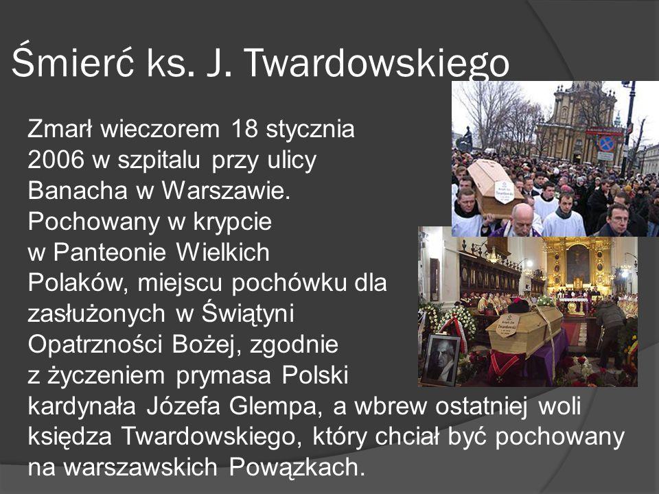 Śmierć ks. J. Twardowskiego