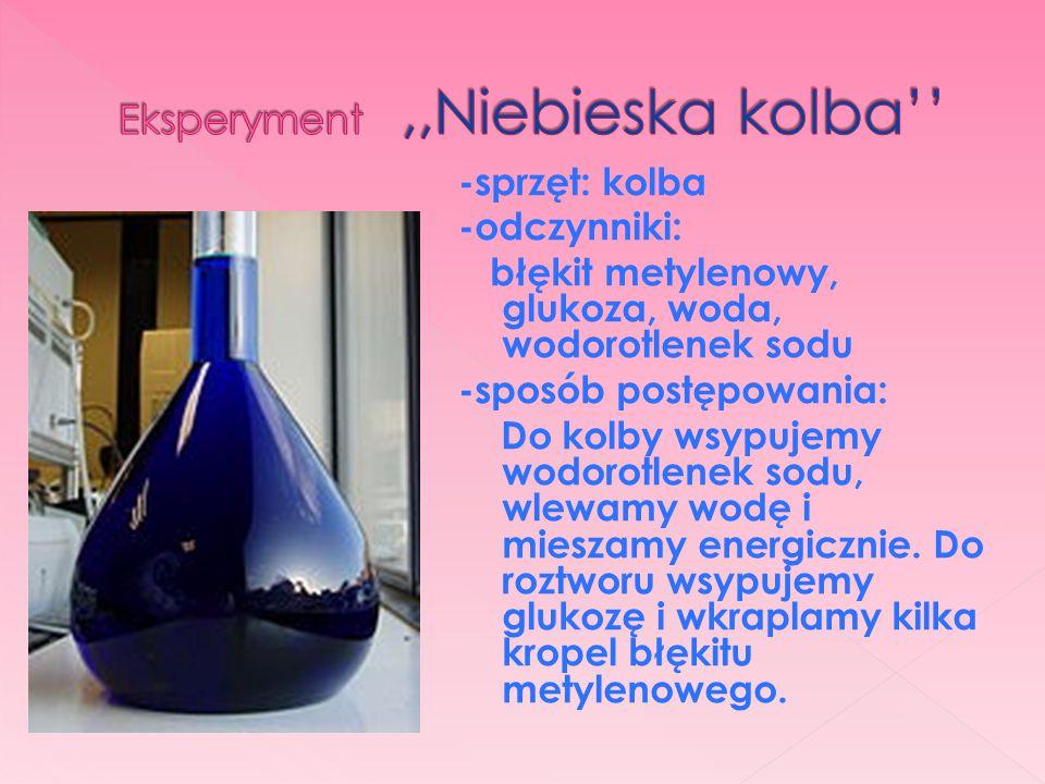Eksperyment ,,Niebieska kolba''