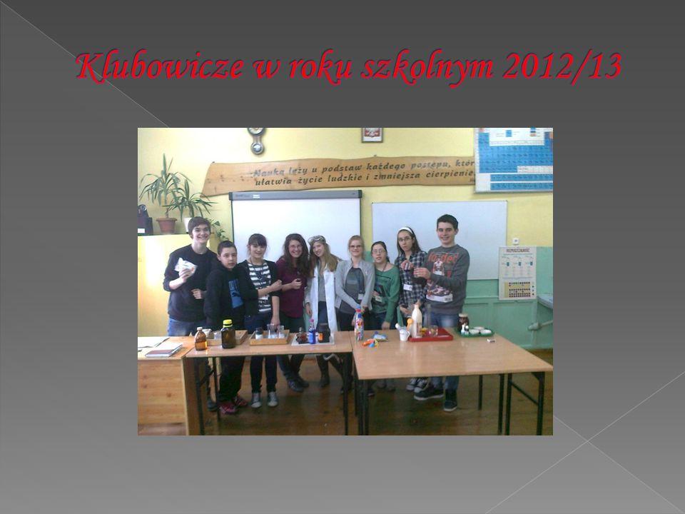 Klubowicze w roku szkolnym 2012/13