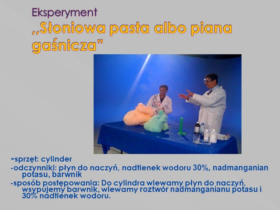 Eksperyment ,,Słoniowa pasta albo piana gaśnicza