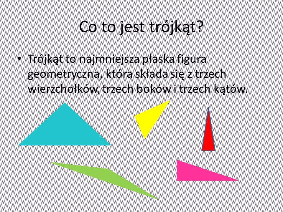 Co to jest trójkąt.