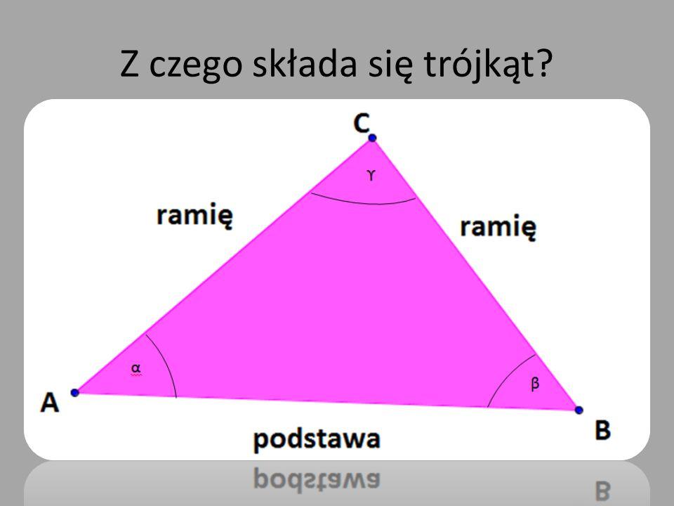 Z czego składa się trójkąt