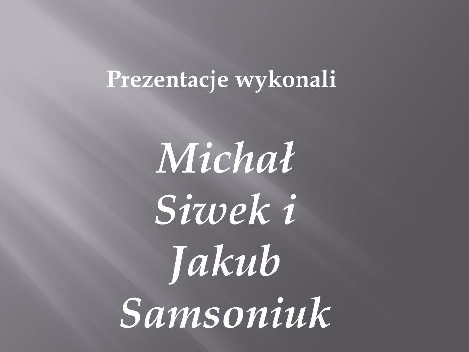 Michał Siwek i Jakub Samsoniuk