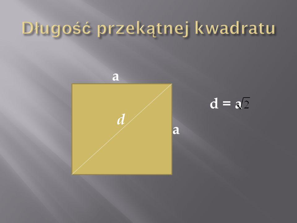 Długość przekątnej kwadratu