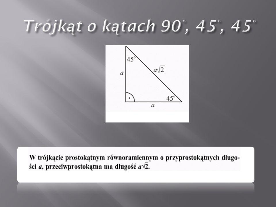 Trójkąt o kątach 90°, 45°, 45°