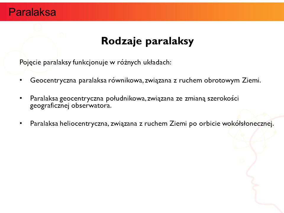 Paralaksa Rodzaje paralaksy informatyka +