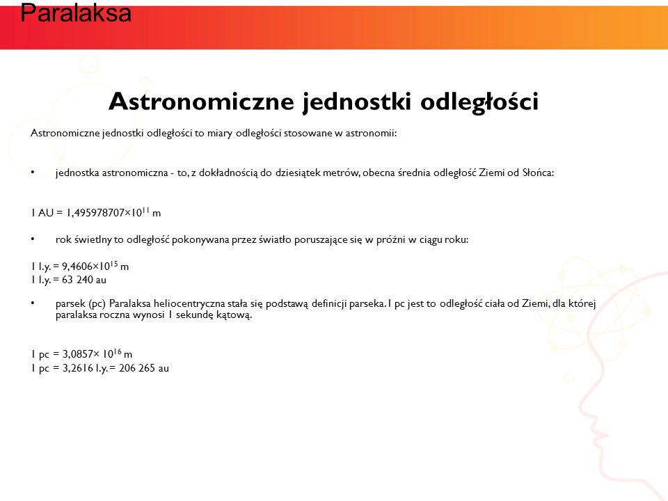 Astronomiczne jednostki odległości