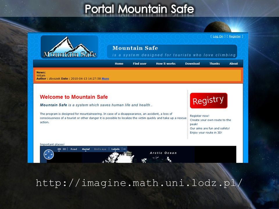 Portal Mountain Safe http://imagine.math.uni.lodz.pl/