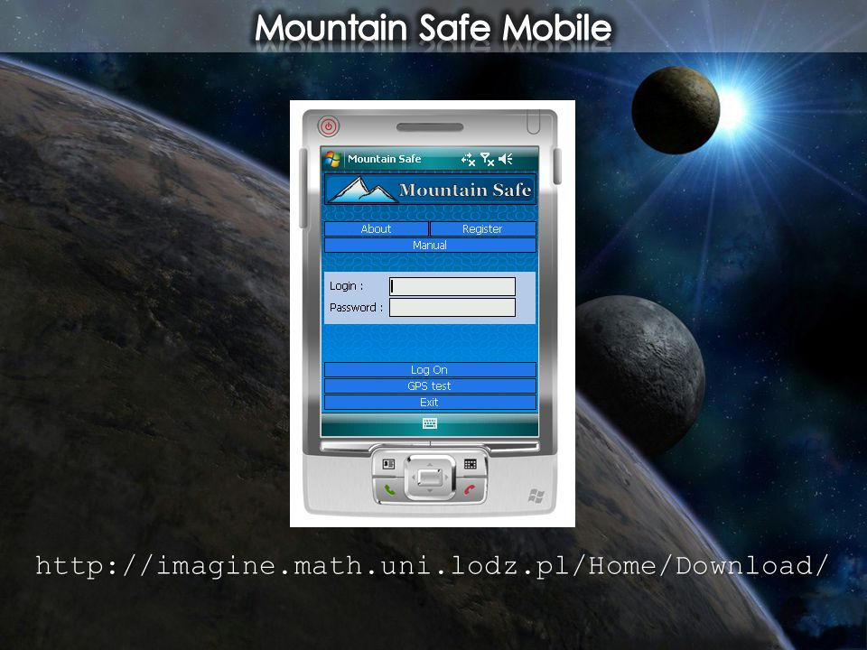 Mountain Safe Mobile http://imagine.math.uni.lodz.pl/Home/Download/