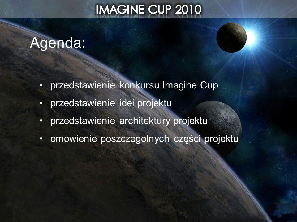 Agenda: IMAGINE CUP 2010 przedstawienie konkursu Imagine Cup