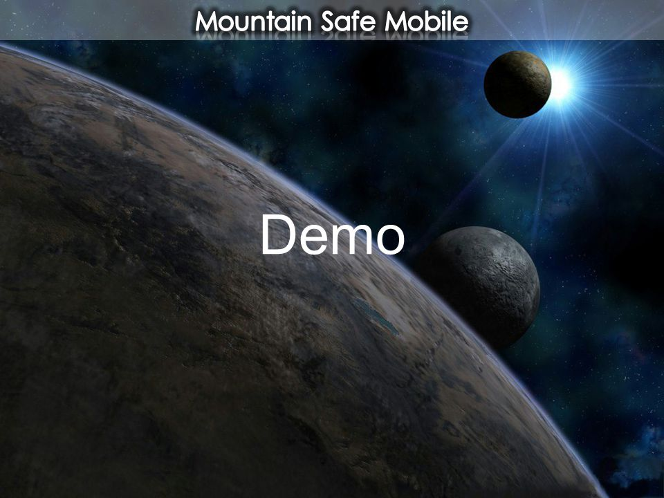 Mountain Safe Mobile Demo