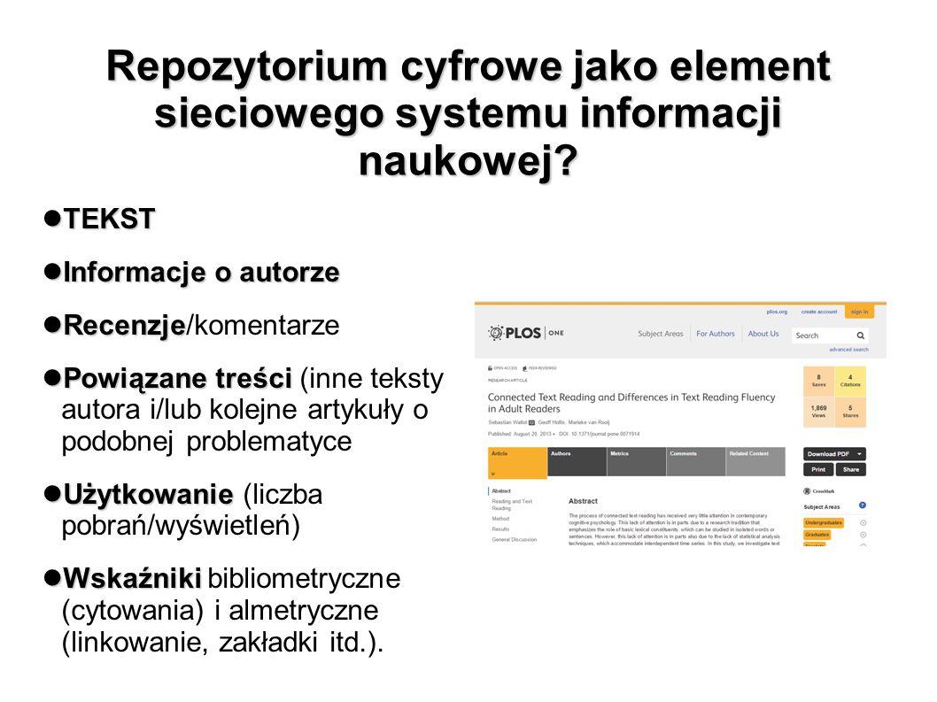 Repozytorium cyfrowe jako element sieciowego systemu informacji naukowej