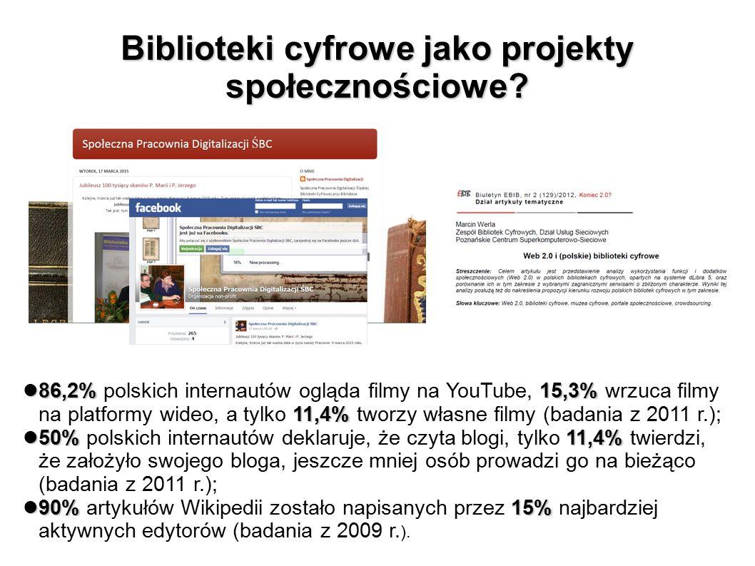 Biblioteki cyfrowe jako projekty społecznościowe