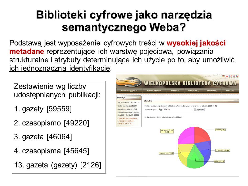 Biblioteki cyfrowe jako narzędzia semantycznego Weba