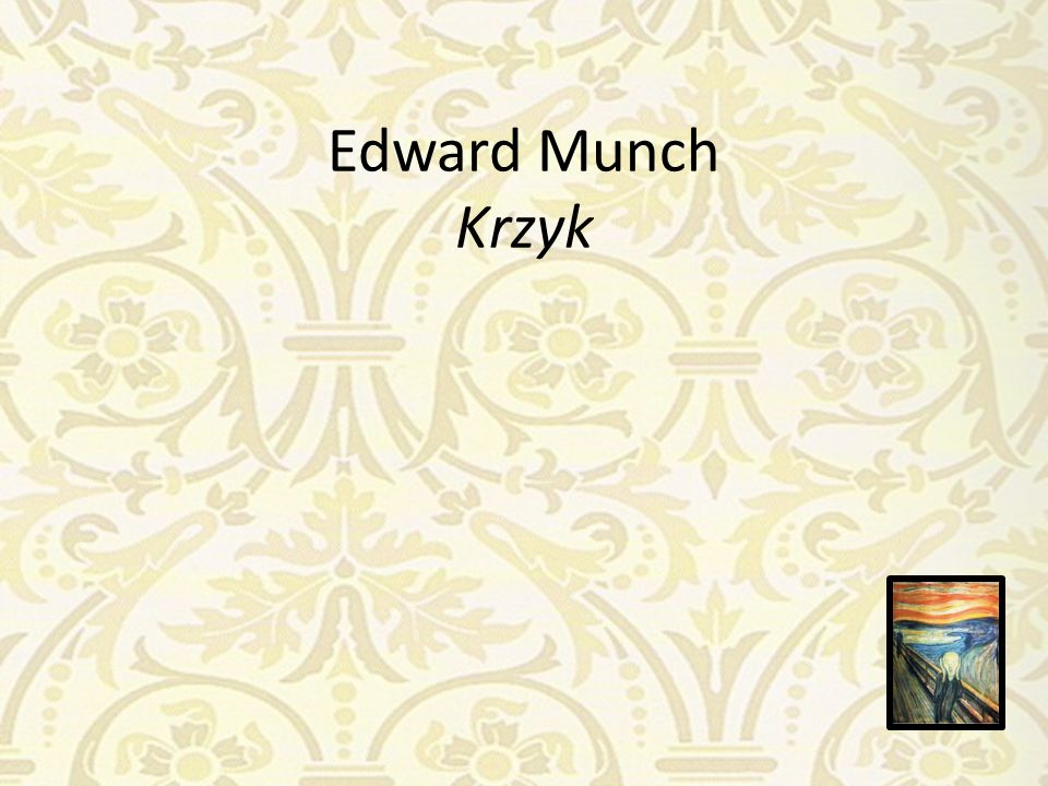 Edward Munch Krzyk