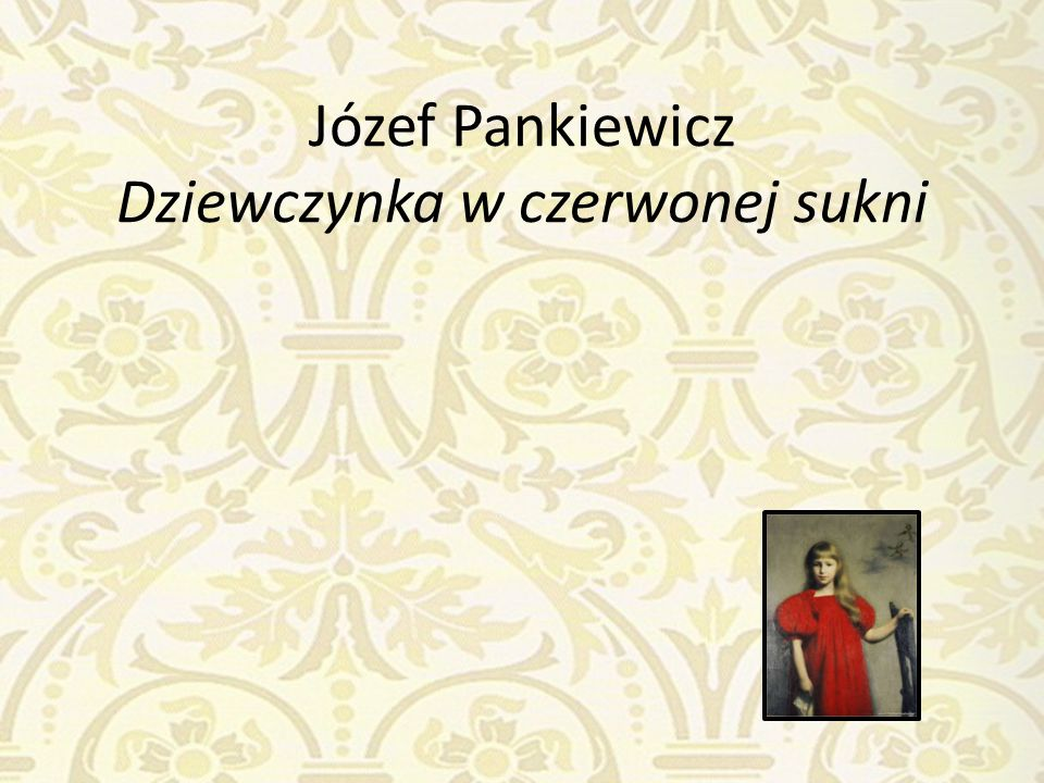 Józef Pankiewicz Dziewczynka w czerwonej sukni