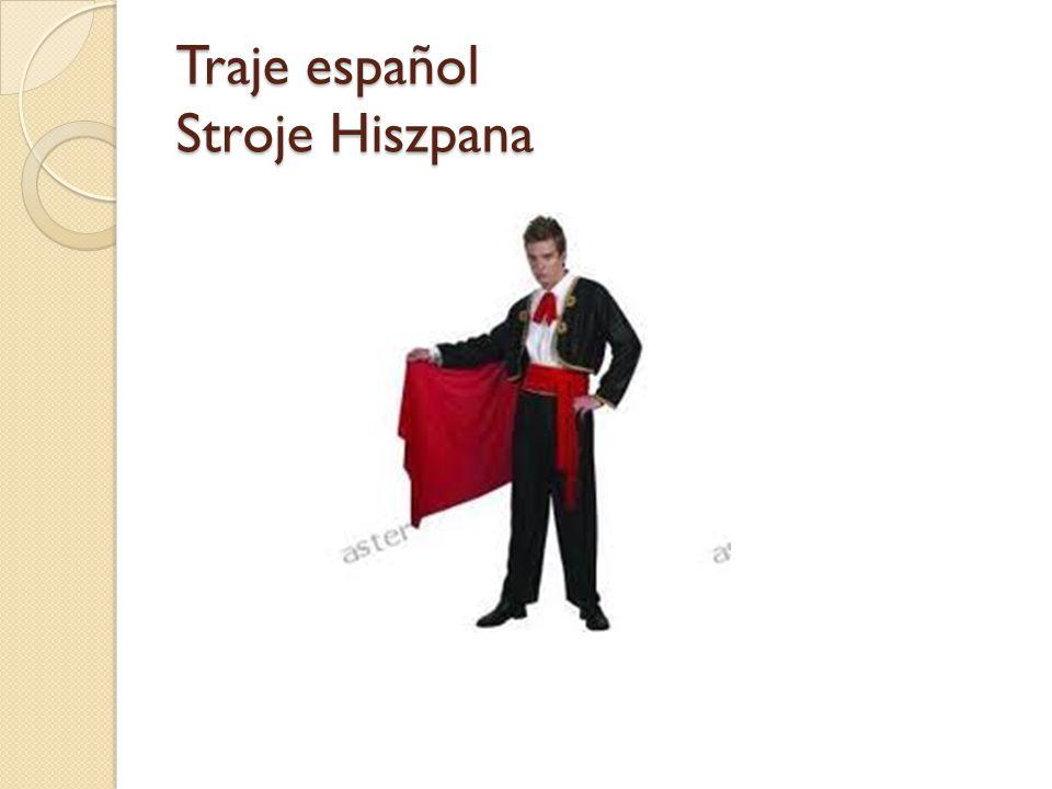 Traje español Stroje Hiszpana