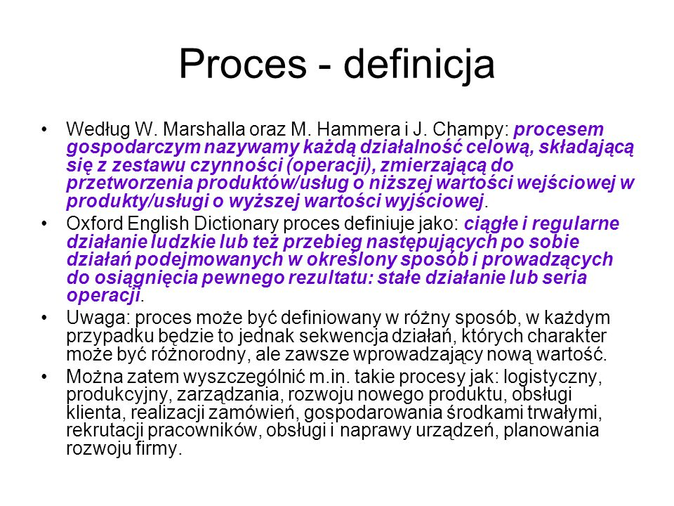 Proces - definicja