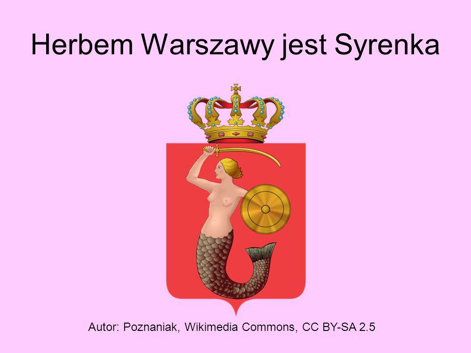 Herbem Warszawy jest Syrenka