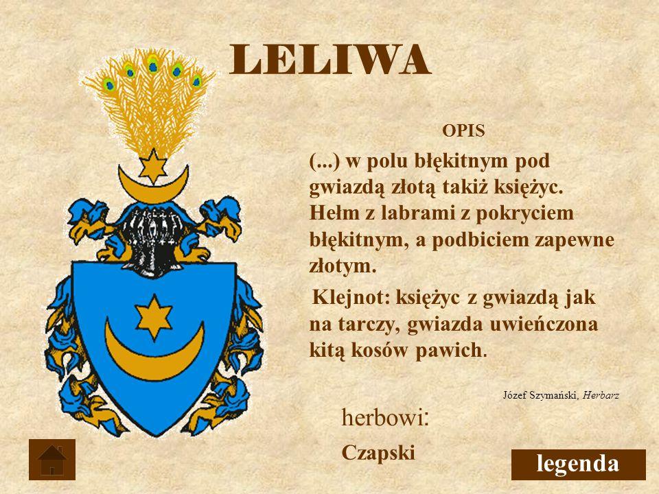 LELIWA herbowi: legenda