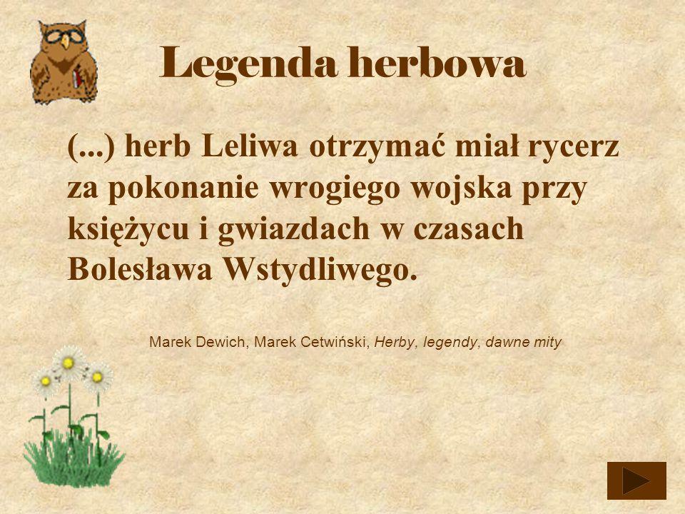 Marek Dewich, Marek Cetwiński, Herby, legendy, dawne mity