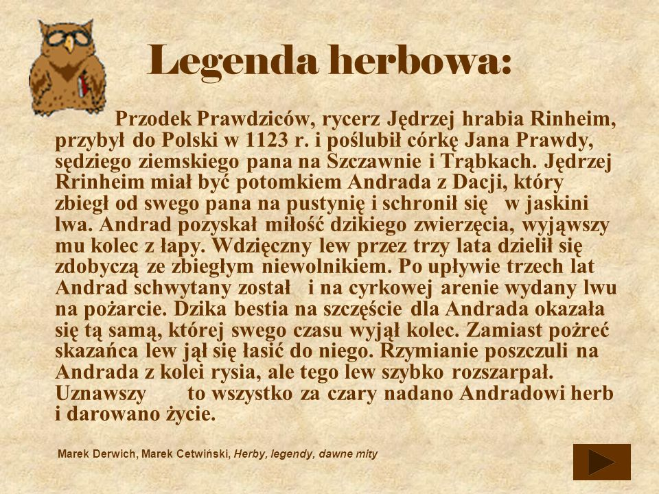 Legenda herbowa: