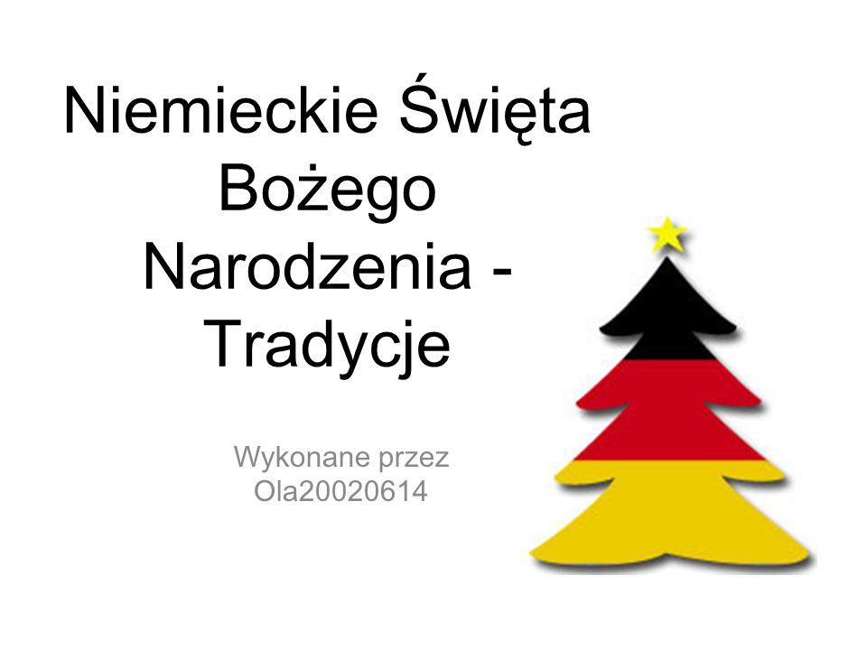 Niemieckie Święta Bożego Narodzenia - Tradycje
