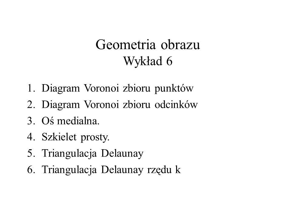 Geometria obrazu Wykład 6