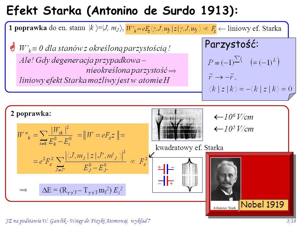 Efekt Starka (Antonino de Surdo 1913):