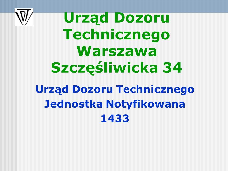 Urząd Dozoru Technicznego Warszawa Szczęśliwicka 34