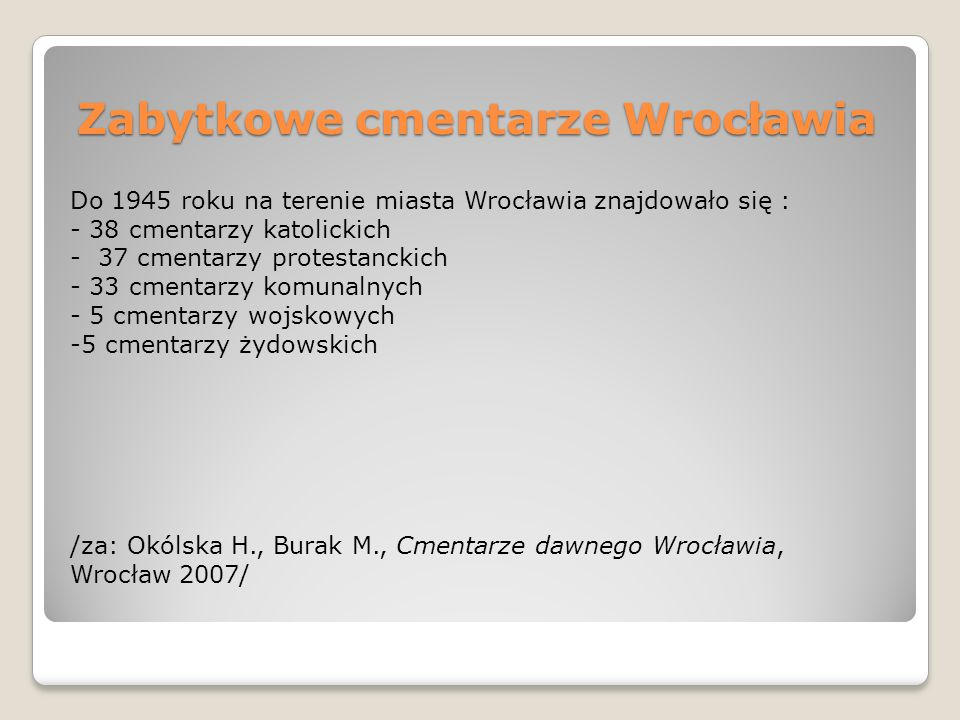 Zabytkowe cmentarze Wrocławia